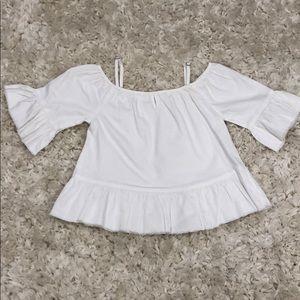 Girls Ruffle Sleeve Top!